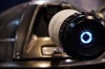 Gold Dalek extreme close-up.