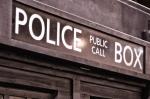 TARDIS Police Box sign.
