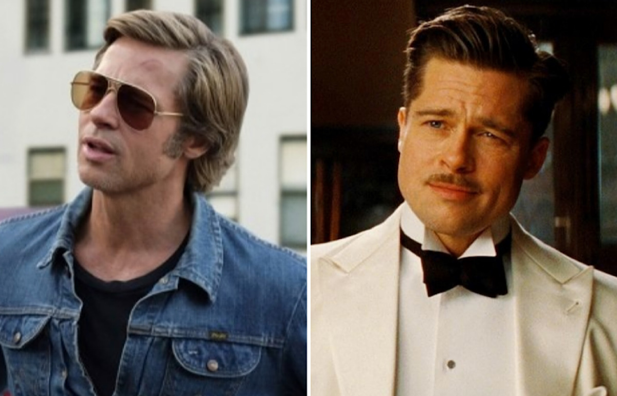 Image of Cliff Booth and Aldo Raine played by Brad Pitt