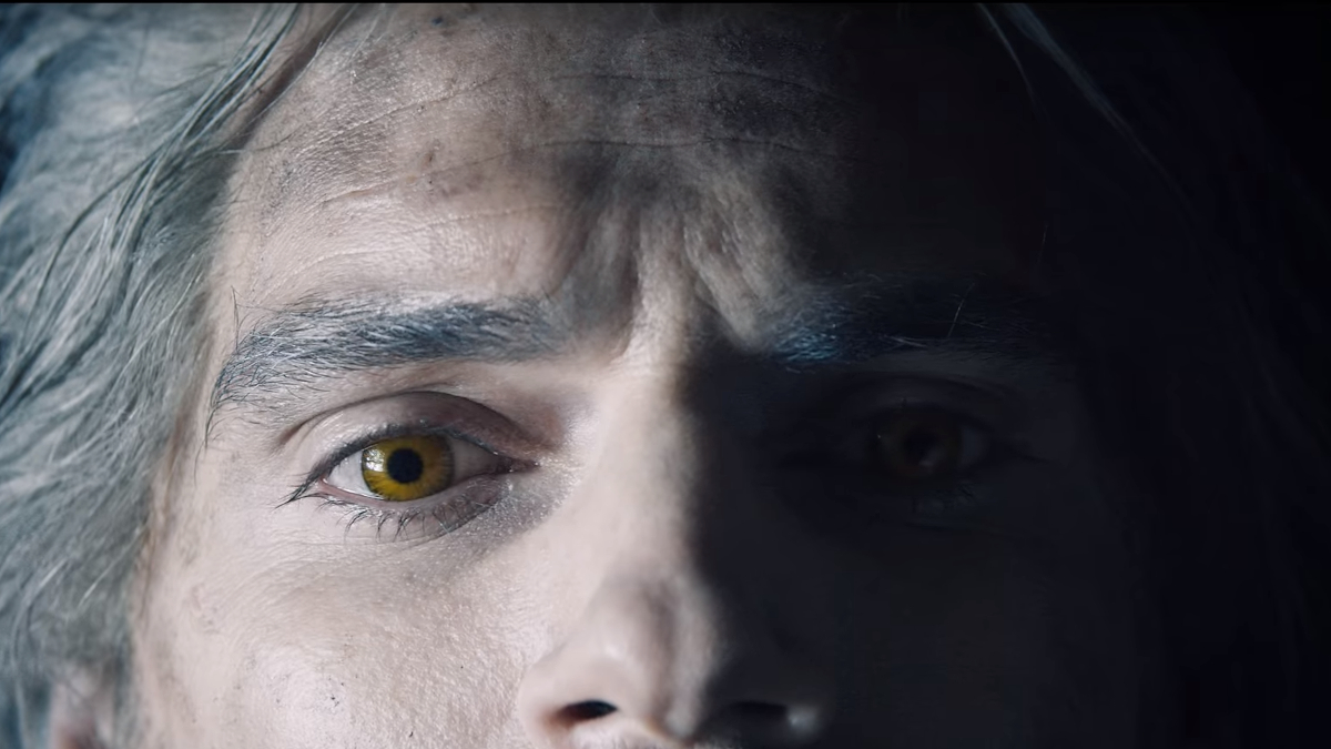 Geralt's eyes, close up.