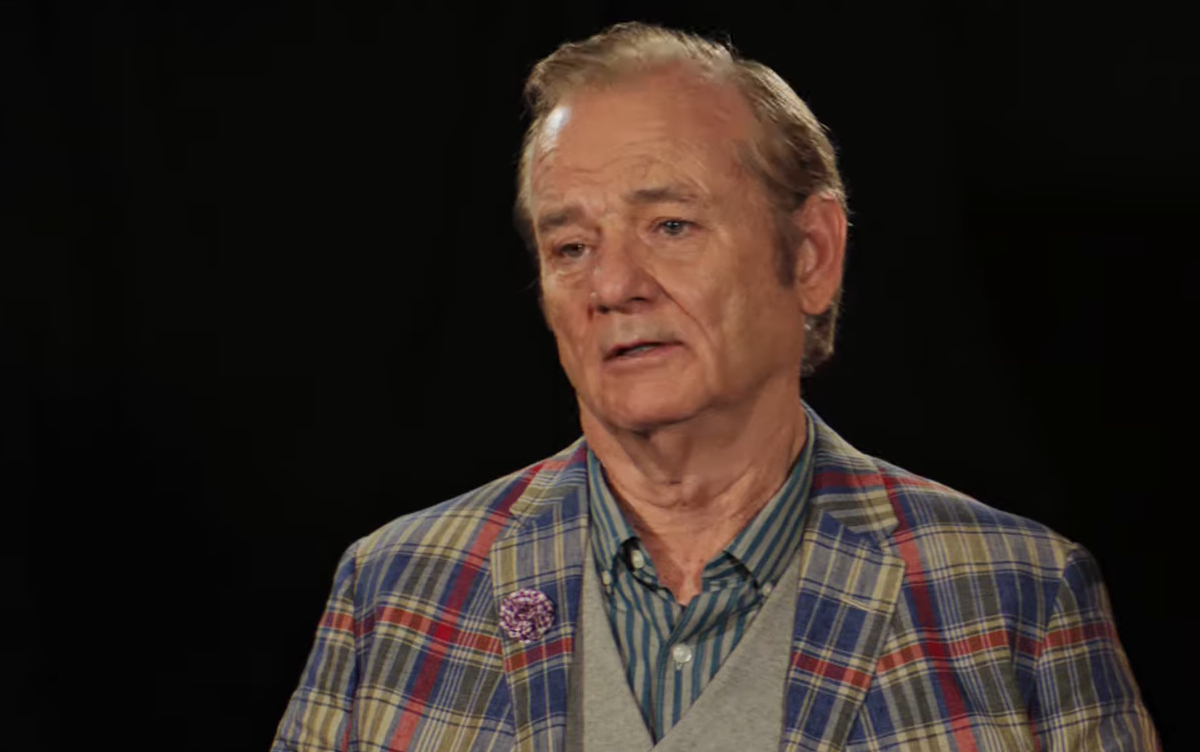 Bill Murray (Bill Murray) being interviewed in Zombieland: Double Tap