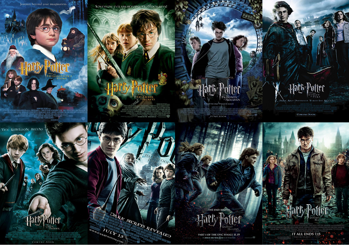 8 Posters for the Harry Potter Series
