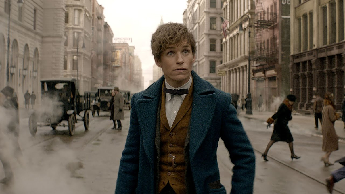 Newt Scamander in New York City.