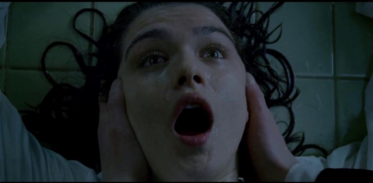 Angela gasping.