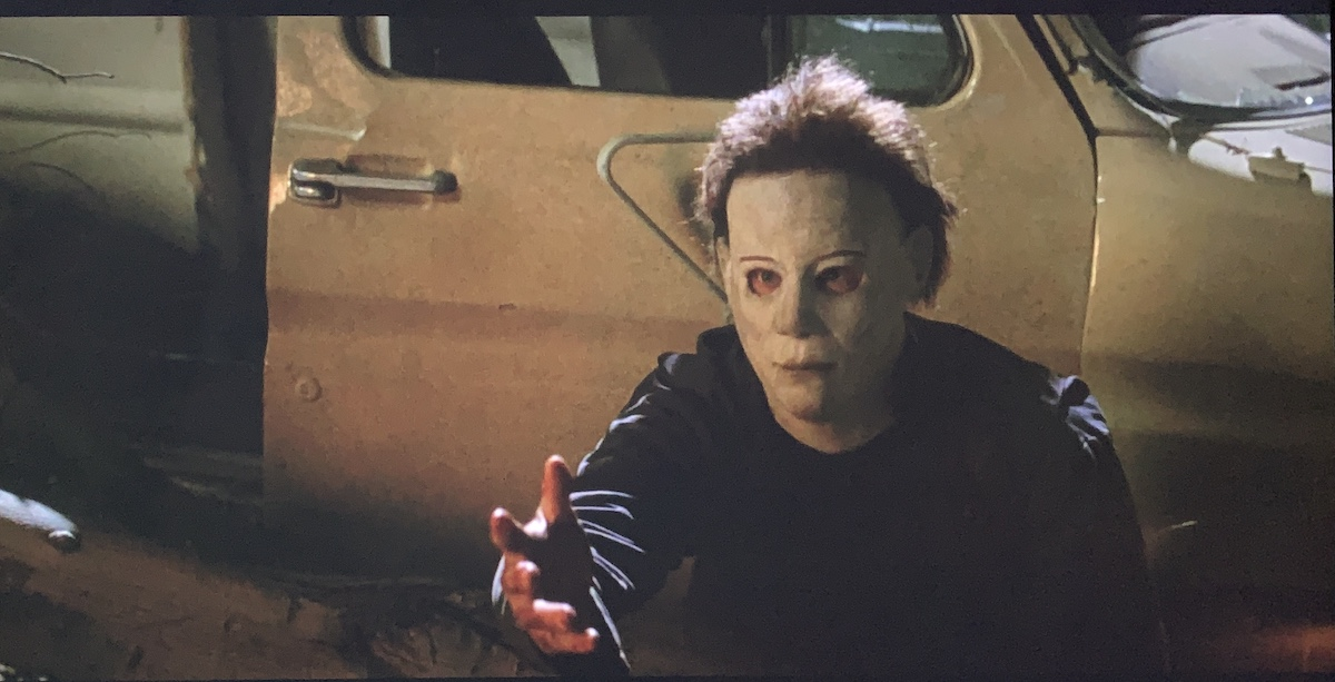 Michael Myers reaching out his hand.