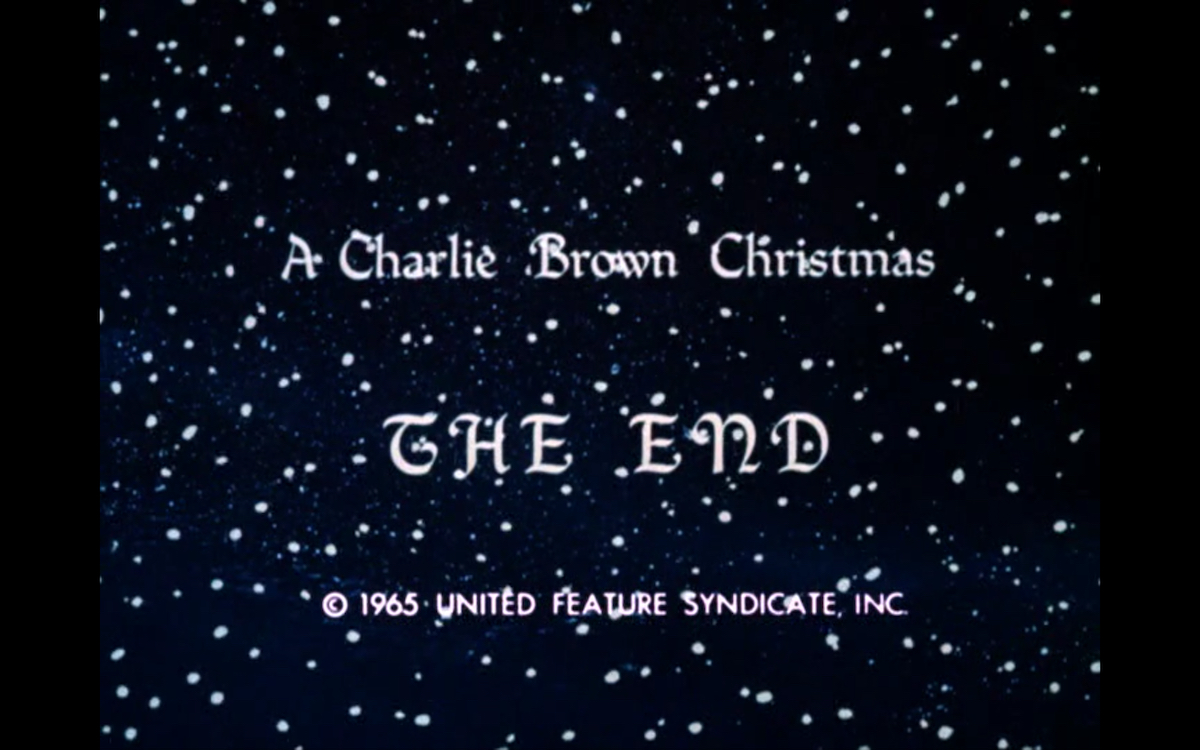 The end of A Charlie Brown Christmas