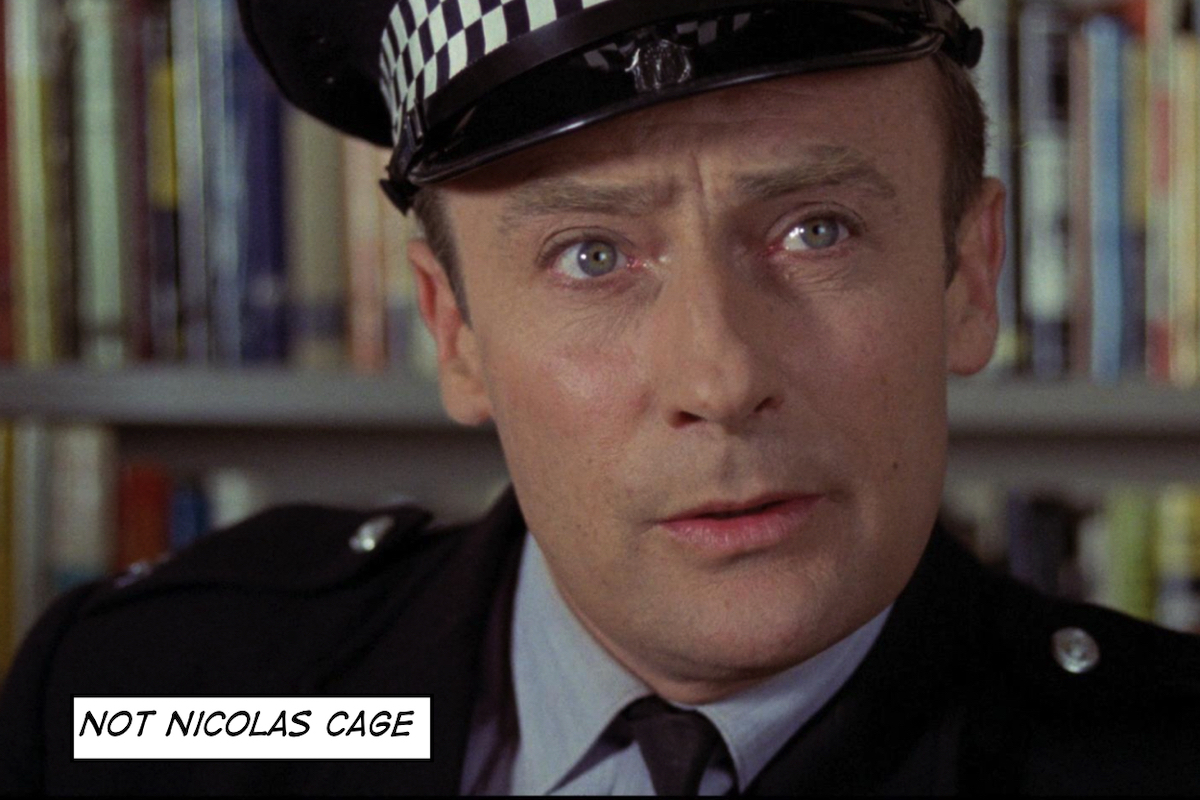 Edward Woodward, NOT Nicolas Cage.