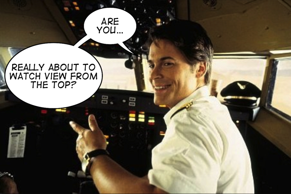 Rob Lowe can't believe someone is watching View From the Top.