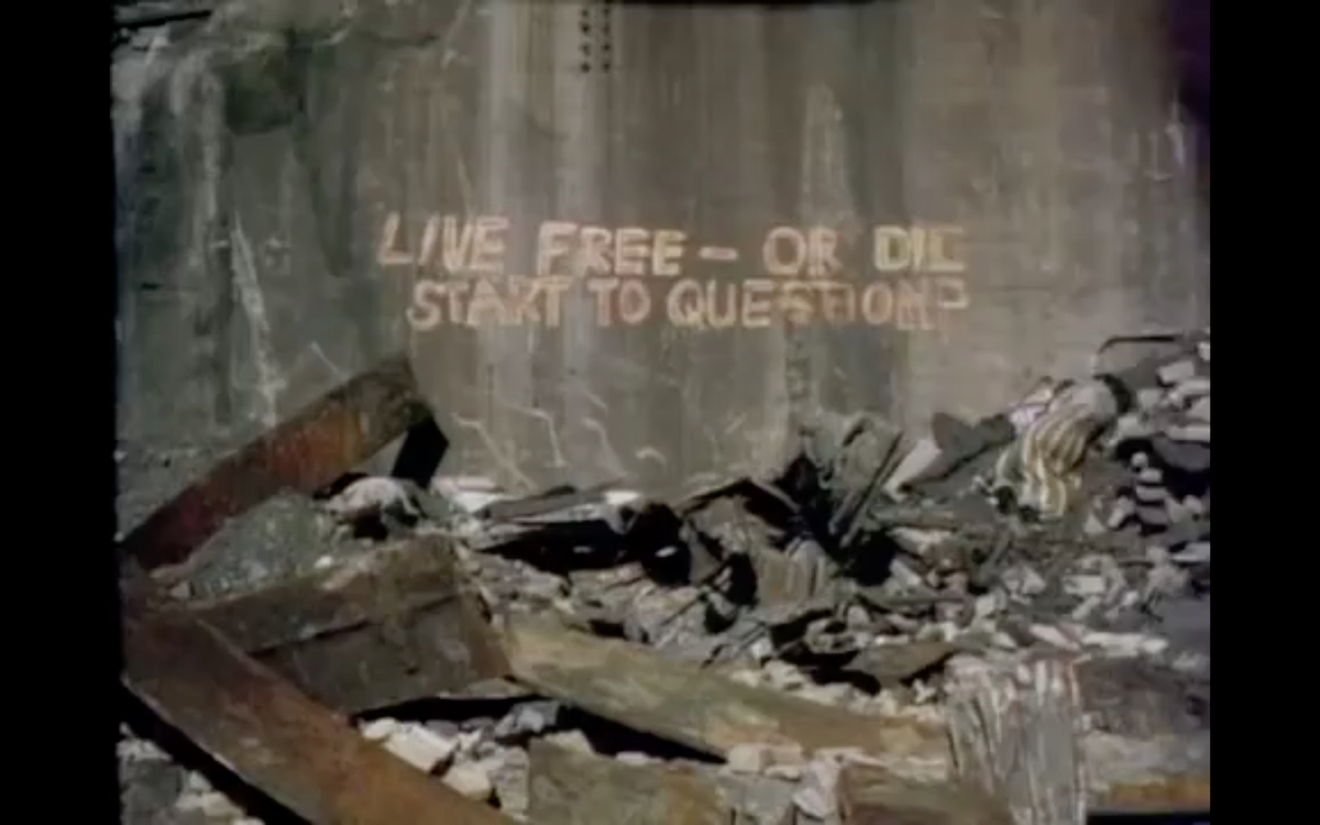 Graffiti: Live Free — Or Dic/Start to Question?