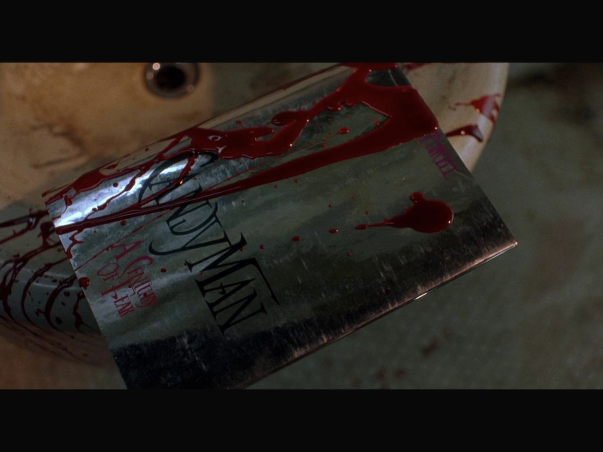 A book on Candyman splattered with the author's blood.