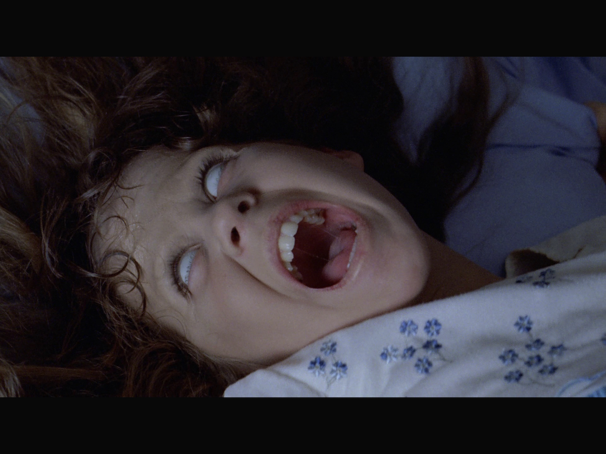 Regan possessed by the demon.